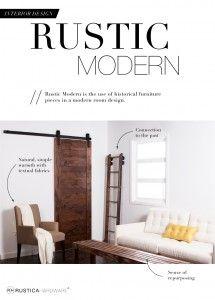Interior Design: Rustic Modern - http://RusticaHardware.com/