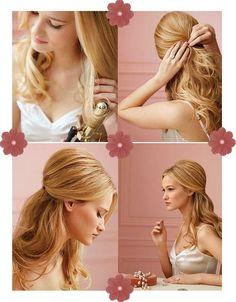 Um penteado estilo anos 60 dá um up em qualquer produção.  Sabendo combinar o cabelo com a maquiagem, o look vintage fica quase angelical e muito estiloso!