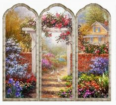 """Free printable dollhouse miniature room screen-1"""" Scale and Half Scale!"""