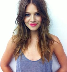 long layers, center bangs ombre, fall 2014 haircut