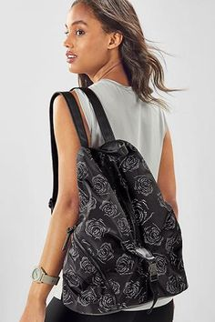 Fabletics Bags The Row Backpack Womens Black One Size Fits Most Water Bottle Holders, No Equipment Workout, Yoga Pants, The Row, Gym Bag, Backpacks, Clothes For Women, Fitness, Bags