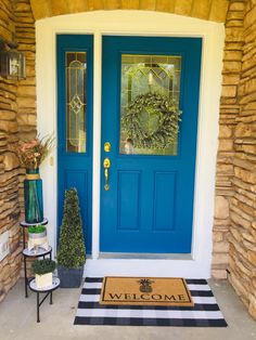 Front Porch Design, Large Pots, Ceramic Table, Topiary, Porch Decorating, Pineapple, Garage Doors, Inspired, Outdoor Decor