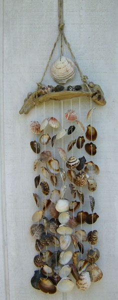 Sea Shell Wind Chime - I'm going to make this!  :)