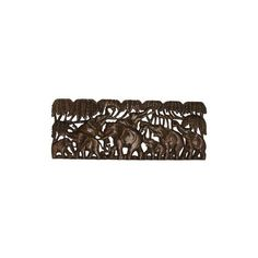 NOVICA Teakwood Relief Panel of Elephants from Thailand ($203) ❤ liked on Polyvore featuring home, home decor, brown, relief panels, wall decor, novica home decor, elephant home accessories, floral home decor, elephant home decor and novica