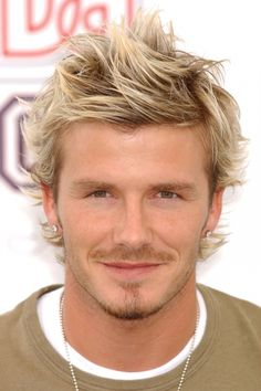 David Beckham Set The Trend For The Wind Swept Look, 2002