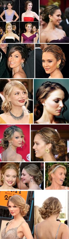 Celebrity Hairstyles Red Carpet Inspiration / Wedding Hairstyles via Shira Weinberger Bridal Fashion Guide