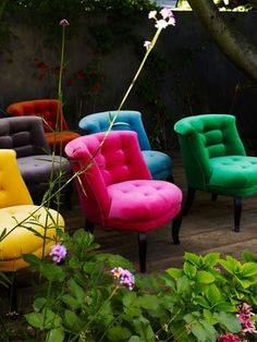 Lovely velvet chairs gertrude-road. I just convulsed out of excitement.