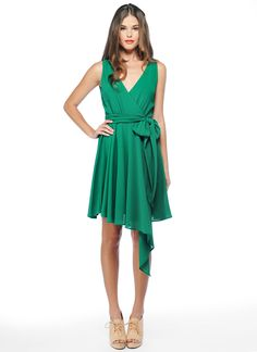 i don't normally like asymmetrical dresses, but this one is cute!! love the color, too!