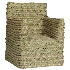 Furniture - Turqueta Esparto Natural Armchair - Hutsly. Handmade in Spain, this beautiful natural armchair is covered in woven esparto fiber. No two chairs are the same due to the hand-weaving so they are truly unique and their style remind us of Provence or Mexico! For outdoor use, we recommend leaving it inside or under a covered porch when the sun is not out.