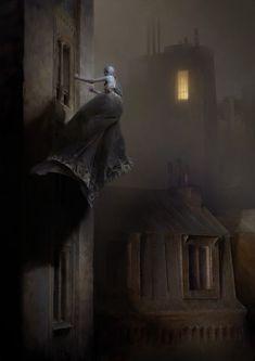 Dishonored 2 Serkonan Legends Artwork by Piotr Jablonski Concept Art World Arte Horror, Horror Art, Dark Fantasy Art, Digital Painter, Digital Art, Art Sinistre, Art Visionnaire, Arte Black, Concept Art World