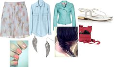 """""""feather love"""" by jenna-zacharia ❤ liked on Polyvore"""