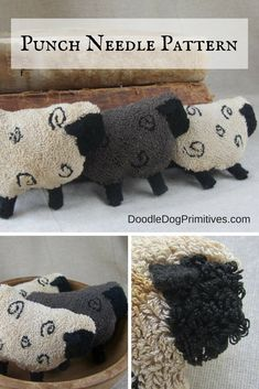 Sheep bowl fillers Punch Needle Pattern