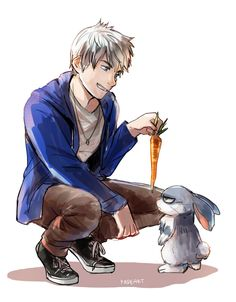 Cute Easter bunny and Jack Frost fanart is cool Dreamworks Animation, Disney And Dreamworks, Disney Animation, Disney Fan Art, Disney Fun, Punk Disney, Disney Facts, Disney Movies, Disney Characters