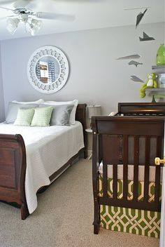 Master Bedroom Nursery Combo nice combination of guest room meets nursery. | dreaming about the