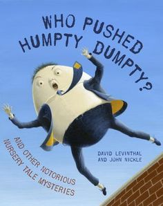 Who Pushed Humpty Dumpty?:  This is a fun case by case book that kids will know most of the answers to the crimes.  The fun one was Humpty Dumpty, of course, but the others were cute too.  This would be good for older Elementary School kids visiting - Just share 2-3 cases with them and have them try to solve the crime.