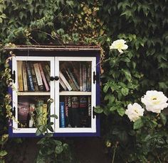 Green Renaissance Love this idea - free library, take a book replace it with one you have read.