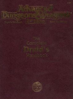 PHBR13 Complete Druid's Handbook (2e) | Book cover and interior art for Advanced Dungeons and Dragons 2.0 - Advanced Dungeons & Dragons, D&D, DND, AD&D, ADND, 2nd Edition, 2nd Ed., 2.0, 2E, OSRIC, OSR, d20, fantasy, Roleplaying Game, Role Playing Game, RPG, Wizards of the Coast, WotC, TSR Inc. | Create your own roleplaying game books w/ RPG Bard: www.rpgbard.com | Not Trusty Sword art: click artwork for source