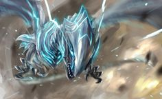 Blue-eyes Alternative White Dragon by fate-fiction