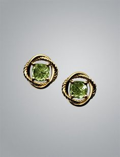 "David Yurman ""Infinity"" earrings, peridot"