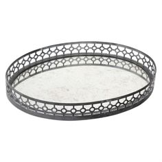 Uttermost Alessandra Oxidized Gray Tray