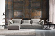 Sofá modular / de esquina / moderno / de tela QUARTET by Zeno Nugari Gurian
