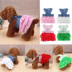 Gato de verano para mascotas pequeñas Cachorros De Ropa Falda Tutú Vestido Princesa Disfraz Apparel
