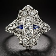 Art Deco Diamond Dinner Ring $2,850.00