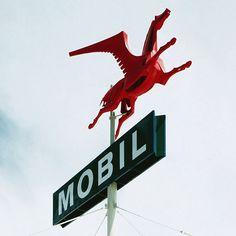 Mobil Gas Station Pegasus, Anaheim 1956