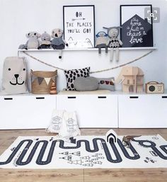Monochrome Children's room, White Ikea storage and wicker basket storage. Scandi themed nursery and typography prints Monochrome Children's room, White Ikea storage and wicker basket storage. Scandi themed nursery and typography prints Ikea Storage, Storage Baskets, Storage Ideas, Storage Solutions, Soft Toy Storage, Baby Storage, Storage Shelving, Storage Boxes, Casa Kids