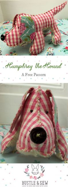 Humphrey the Hound - a free pattern from Bustle & Sew