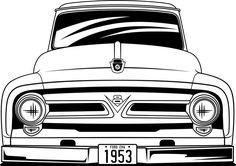Chevy Diesel Trucks, Ford Pickup Trucks, Chevrolet Trucks, Car Ford, 1957 Chevrolet, Chevrolet Impala, Classic Ford Trucks, Ford F Series, Art Anime