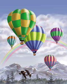 Hot Air Balloons I ~ Thomas Wood