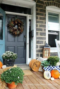 157 best Front porch decorating images on Pinterest | Autumn front ...