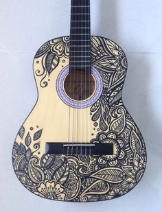 Newest Art Project - Painted Guitar! - Album on Imgur