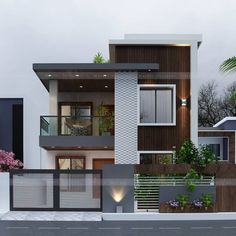 Want to Design floor Plan?Contact us (Low Budget Good Quality) Freelancer . Modern Exterior House Designs, Modern Small House Design, Modern House Facades, Modern House Plans, Exterior Design, Modern Zen House, Facade Design, Modern Houses, Modern Architecture
