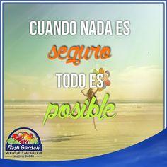 """""""Cuando nada es seguro, todo es posible""""  #FraseDelDía #Motivación"""