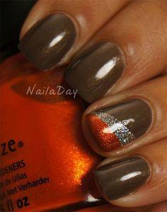 Perfect Fall nails! #OrangeNails #FallNails #BrownNails #NailArt