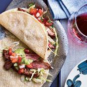Superfresh fillings like pico de gallo make these carne asada (steak) tacos shine.