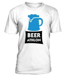 BEER ATHLON - The Beer Marathon  #gift #idea #shirt #image #TeeshirtAlcool #humouralcool