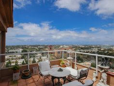 180 degree views of San Diego and the Pacific Ocean.  #SanDiego #UTC #RetirementCommunity #Penthouse