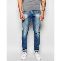 Shop Scotch & Soda Skinny Jeans In Faded Wash at ASOS. Mens Light Wash Jeans, Men's Jeans, Blue Jeans, Grey Chinos, Button Fly Jeans, Scotch Soda, Super Skinny Jeans, Polyvore Outfits, Men's Clothing