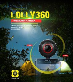 2017 Fashion design 4K 360 degree fisheye panoramic camera