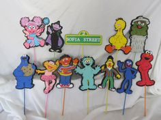 Sesame Street Party Centerpiece Character por DreamComeTrueParties