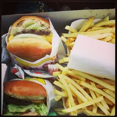 My first In-N-Out! Loved it.