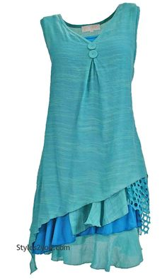 Colette Two Piece Knit Top In Turquoise