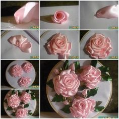 DIY Embroidery Ribbon Roses 1