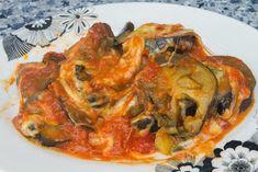 El Baúl de las delicias: Berenjenas al a napolitana Veggie Recipes, Vegetarian Recipes, Ratatouille, Vegetable Pizza, Tapas, Salmon, Side Dishes, Chicken, Meat