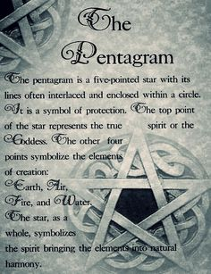 The pentacle. maybe i was wrong about the pentacle being represented for casting for demons. looks like it is pure