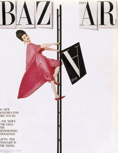 Vintage Harper's Bazaar Covers - Harper's BAZAAR from 1959- a nod to the previous spelling/image of the magazine?