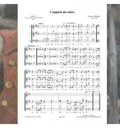 Jacques OFFENBACH : la grande duchesse de Gerolstein - COUPLETS DU SABRE - musique publiée aux éditions Musiques en Flandres pour choeur à 5 voix mixtes - référence MeF 922